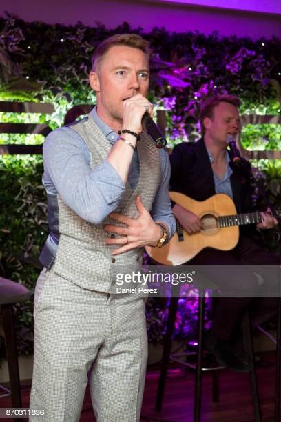 Ronan Keating performs on stage during a concert at the 2nd Annual Global Gift Ronan Keating Golf Tournament Dinner and Concert on November 04 2017...