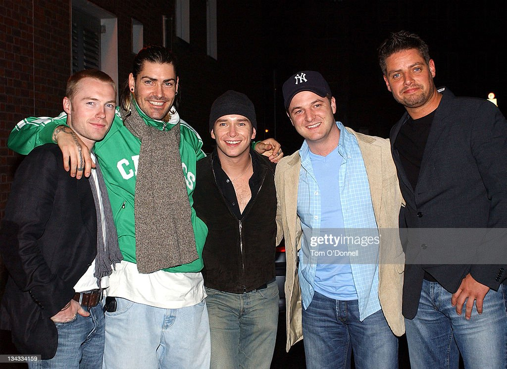 Boyzone Out on the Town in Dublin
