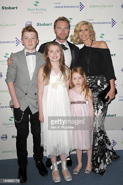 Ronan Keating Yvonne Keating Jack Keating Melissa Keating and Ali Keating attends the Emeralds Ivy Ball in aid of Cancer Research UK and the Marie...