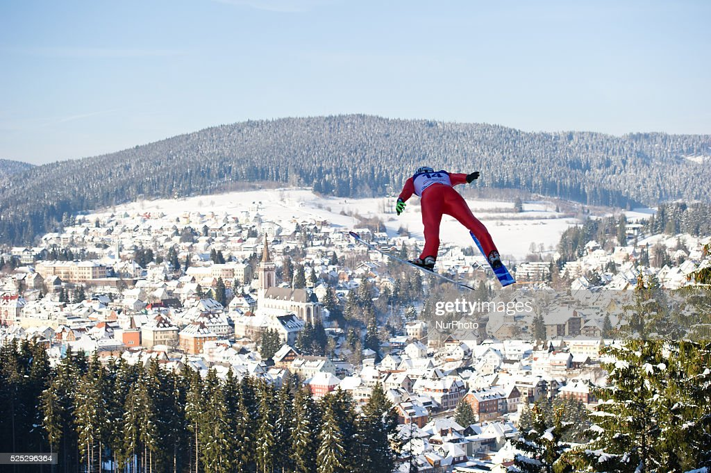 Ronan Lamy Chappuis in flight during the Large Hill Individual competition on day one of the FIS Ski Jumping World Cup on February 7 2015 in Titisee...