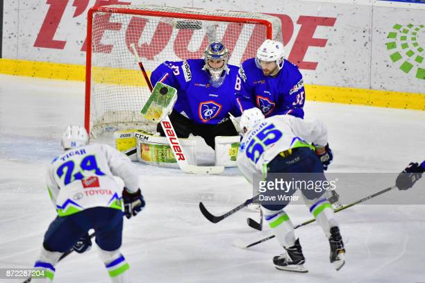 Ronan Quemener of France during the EIHF Ice Hockey Four Nations tournament match between France and Slovenia on November 9 2017 in Cergy France