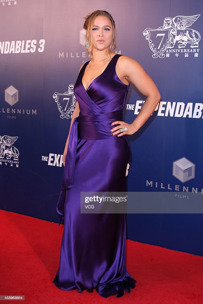 <a gi-track='captionPersonalityLinkClicked' href=/galleries/search?phrase=Ronda+Rousey&family=editorial&specificpeople=3009906 ng-click='$event.stopPropagation()'>Ronda Rousey</a> arrives a special screening of 'The Expendables 3' at The Venetian Macao on August 22, 2014 in Macau, Macau.