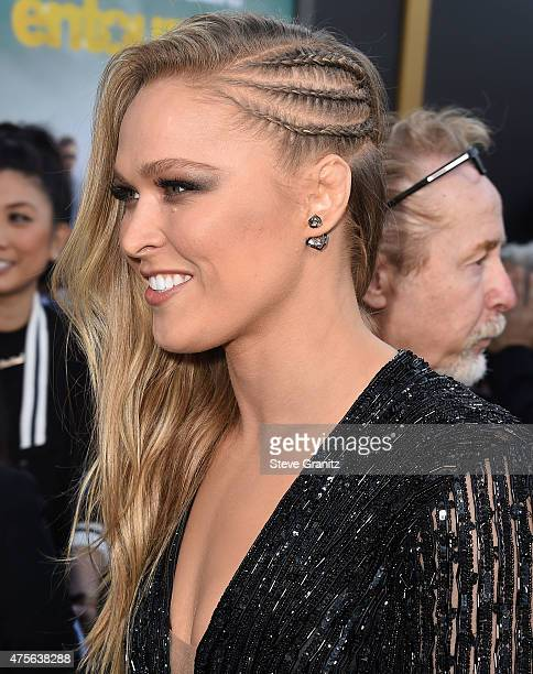 Ronda Rousey arrives at the 'Entourage' Los Angeles Premiere at Regency Village Theatre on June 1 2015 in Westwood California