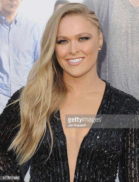 Ronda Rousey arrives at the Los Angeles Premiere 'Entourage' at Regency Village Theatre on June 1 2015 in Westwood California