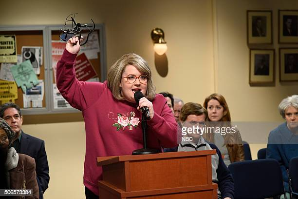 LIVE 'Ronda Rousey' Episode 1694 Pictured Aidy Bryant as Jan Krang during the 'City Council' sketch on January 23 2016