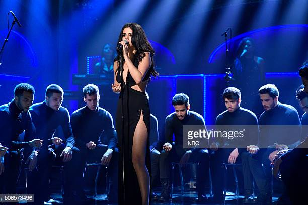 LIVE 'Ronda Rousey' Episode 1694 Pictured Musical guest Selena Gomez performs on January 23 2016