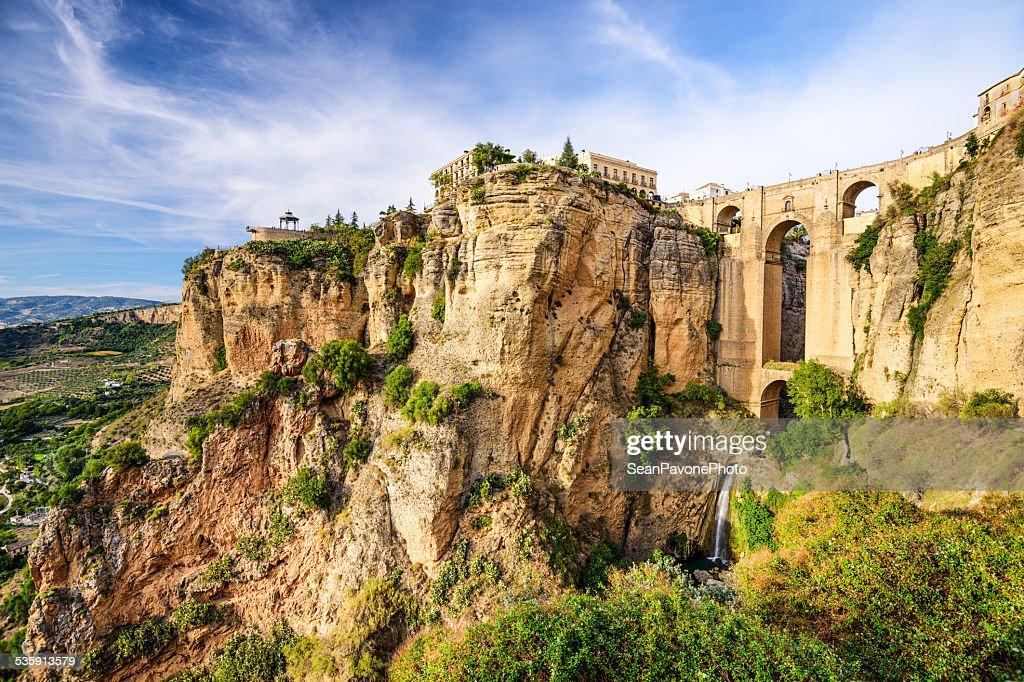 Ronda, España en Puento Nuevo puente : Foto de stock