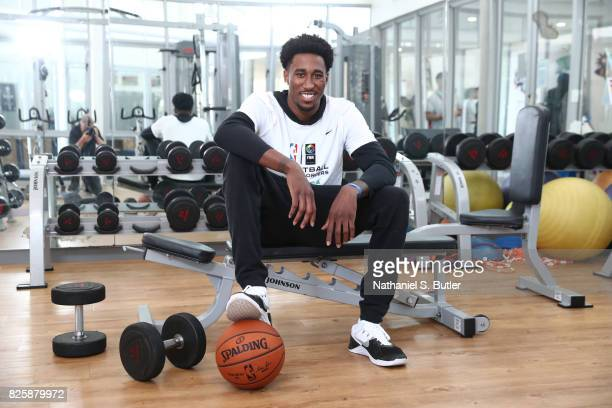 Rondae HollisJefferson of Team World poses for a portrait as part of the Basketball Without Boarders Africa at the American International School of...