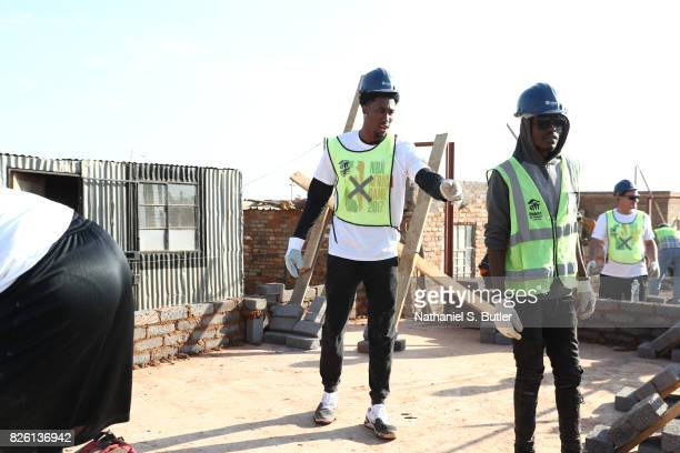 Rondae HollisJefferson of the Brooklyn Nets during a NBA Cares and NBPA Foundation Service Project with Habitat for Humanity as part of the...