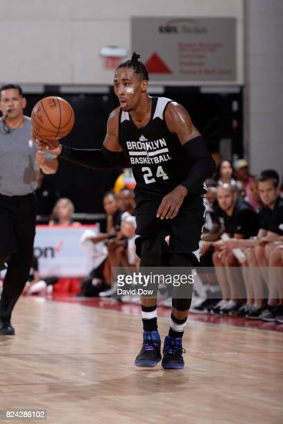 Rondae HollisJefferson of the Brooklyn Nets handles the ball during the game against the New Orleans Pelicans during the 2017 Las Vegas Summer League...