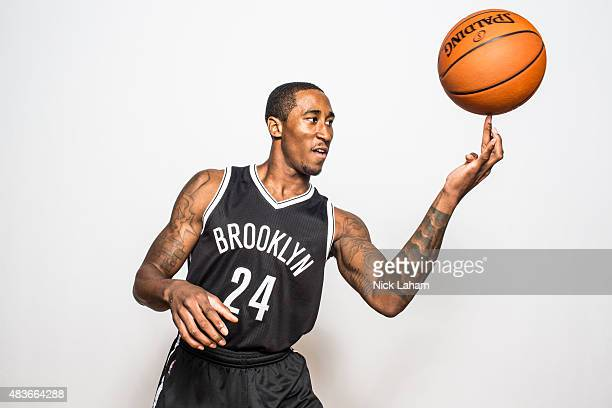 Rondae HollisJefferson of the Brooklyn Nets poses for a portrait during the 2015 NBA rookie photo shoot on August 8 2015 at the Madison Square Garden...