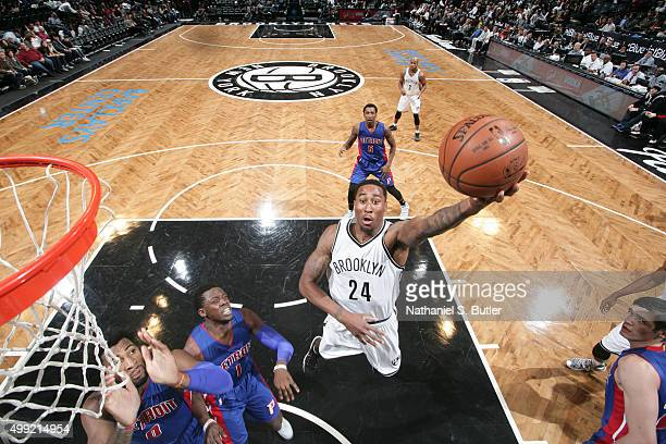 Rondae HollisJefferson of the Brooklyn Nets shoots the ball against the Detroit Pistons on November 29 2015 at Barclays Center in Brooklyn New York...