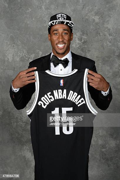 Rondae HollisJefferson poses for a portrait after being traded to the Brooklyn Nets at the Barclays Center on June 25 2015 in the Brooklyn borough of...