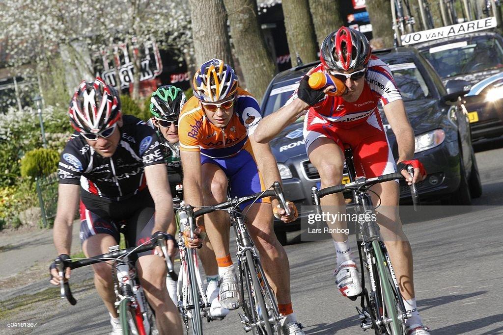 Ronde van Drenthe the Netherlands Martijn Maaskant Rabobank wins the race left no two Rene Jørgensen Team Designa Køkken