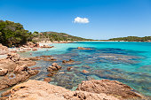 Rondinara beach in Corsica Island in France
