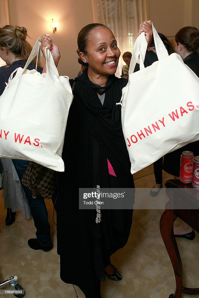 Roni Burks shops at the Johnny Was Holiday Gifting Suite at Chateau Marmont on December 13, 2012 in Los Angeles, California.