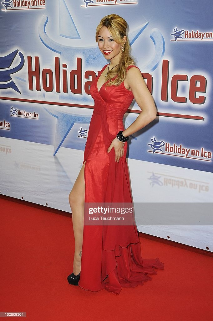 Ronja Hilbig attends the Holiday On Ice Show at Tempodrom on February 28, 2013 in Berlin, Germany.