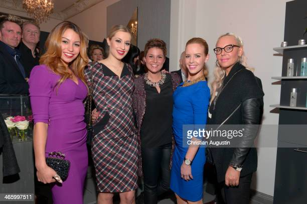Ronja Hilbig Verena Kerth Vanessa Blumhagen Isabel Edvardsson and Natascha Ochsenknecht attend opening of the first LuxusLashes Lounge in Hamburg on...