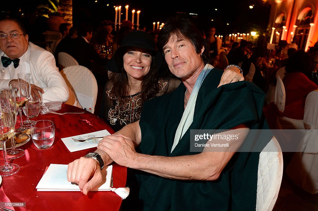 Ronn Moss and Devin DeVasquez attend Taormina Filmfest and Prince Albert II Of Monaco Foundation Gala Dinner at on June 16, 2013 in Taormina, Italy.