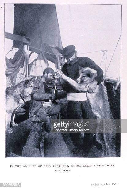 Ronne takes a turn with the dogs' In 'The South Pole' by Roald Amundsen 18721928 P 148 Volume I Library Call Number M821/99 A529s