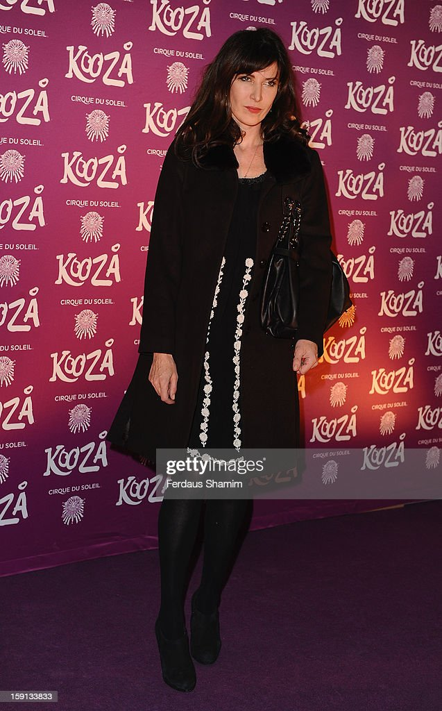 Ronni Ancona attends the opening night of Cirque Du Soleil's Kooza at Royal Albert Hall on January 8, 2013 in London, England.