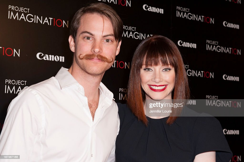 Ronnie Allman and <a gi-track='captionPersonalityLinkClicked' href=/galleries/search?phrase=Bryce+Dallas+Howard&family=editorial&specificpeople=156411 ng-click='$event.stopPropagation()'>Bryce Dallas Howard</a> attend the Los Angeles screening for Canon's 'Project Imaginat10n' film festival at Pacific Theatre at The Grove on November 7, 2013 in Los Angeles, California.