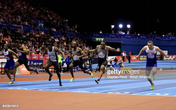Ronnie Baker of USA wins the mens 60m final during the Muller Indoor Grand Prix 2017 at the Barclaycard Arena on February 18 2017 in Birmingham...