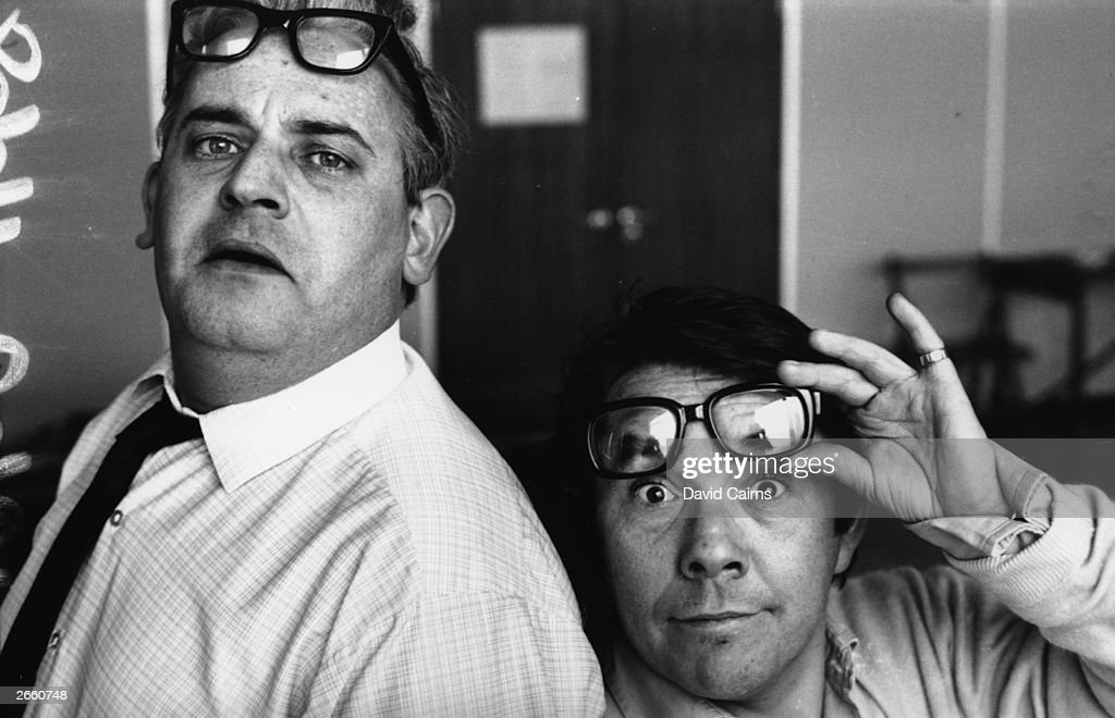 Ronnie Barker (left) and Ronnie Corbett, stars of the television comedy show 'The Two Ronnies'.
