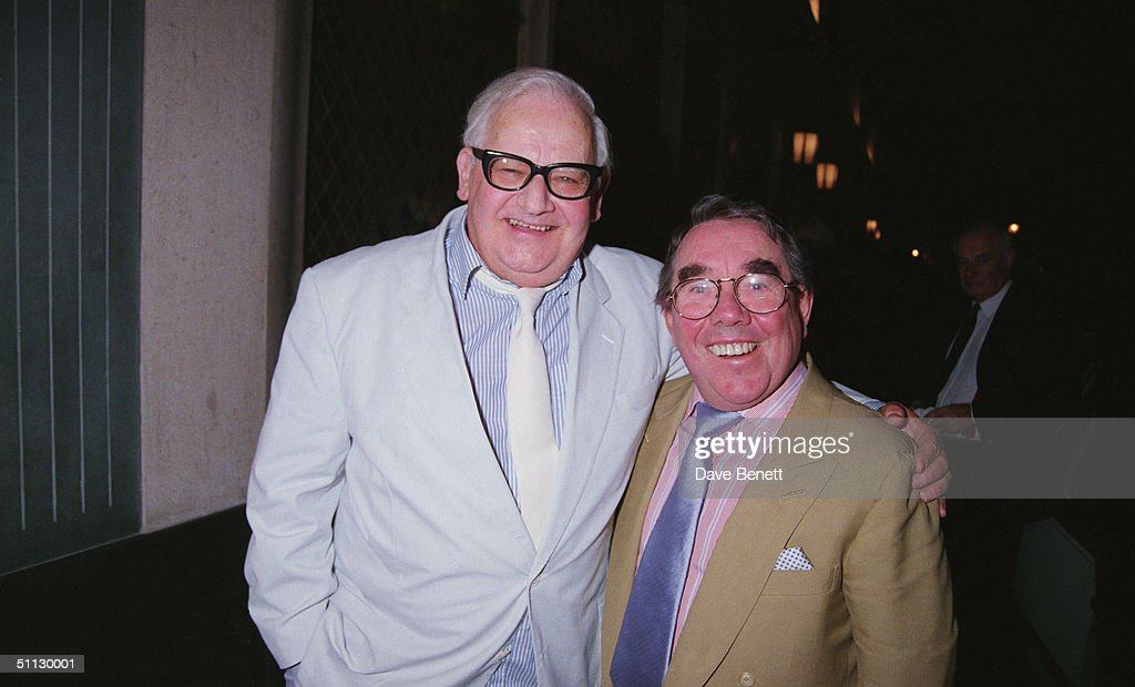 Ronnie Barker and Ronnie Corbett stars of the television comedy show 'The Two Ronnies' 21st September 1994