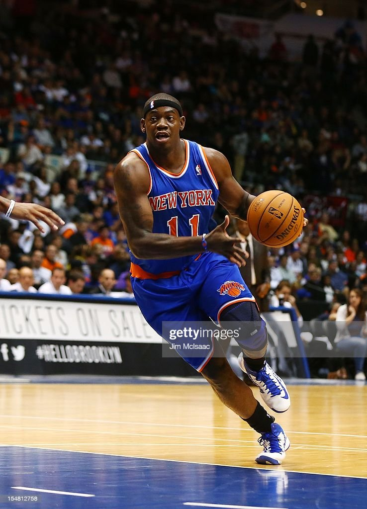 Ronnie Brewer #11 of the New York Knicks in action against the Brooklyn Nets during a preseason game at Nassau Coliseum on October 24 2012 in Uniondale, New York The Knicks defeated the Nets 97-95.