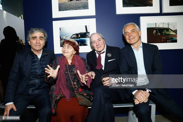 Ronnie Chammah Agnes Varda William Eggleston and Fondation Cartier General Director Herve Chandes attend 'Auto Photo' Exhibition Preview at Fondation...