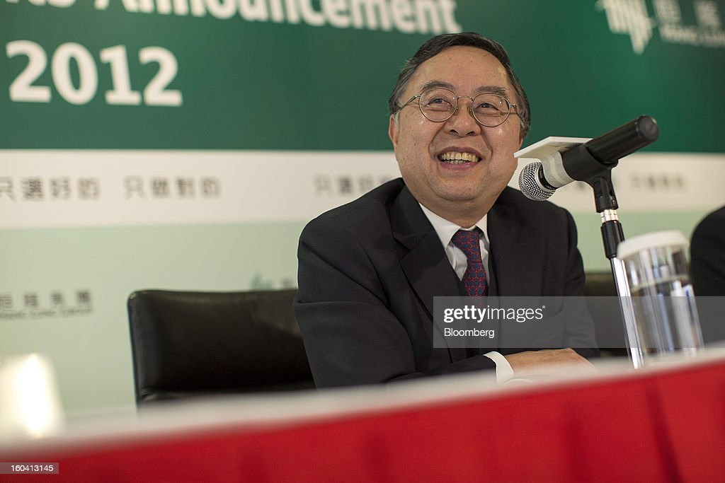 Ronnie Chan, chairman of Hang Lung Properties Ltd., smiles during a news conference in Hong Kong, China, on Thursday, Jan. 31, 2013. Hang Lung, the Hong Kong developer investing more than $8.5 billion building malls in mainland China, said 2012 underlying profit almost doubled after the company sold more properties in the city. Photographer: Jerome Favre/Bloomberg via Getty Images