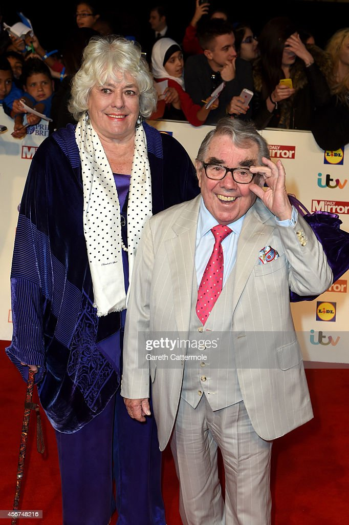 Ronnie Corbett and wife attend the Pride of Britain awards at The Grosvenor House Hotel on October 6 2014 in London England