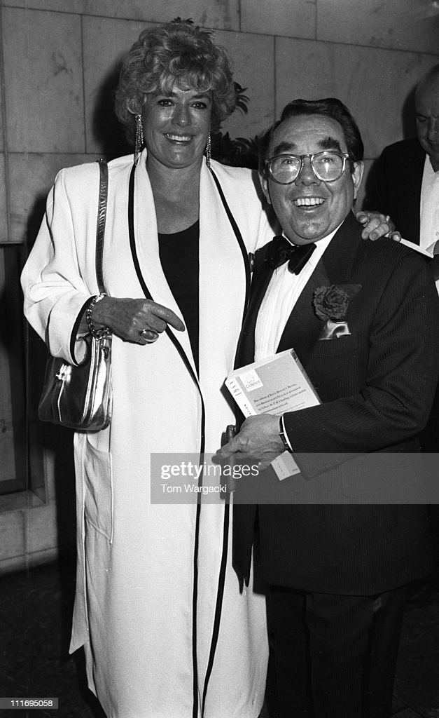 Ronnie Corbett and wife during 1988 Golf Dinner in London Great Britain