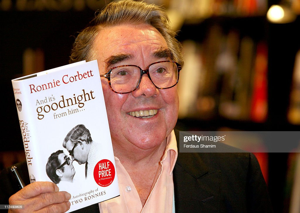 Ronnie Corbett during Ronnie Corbett Signs Copies of His Book 'And It's Goodnight from Him' at Harrods October 20 2006 at Harrods in London Great...