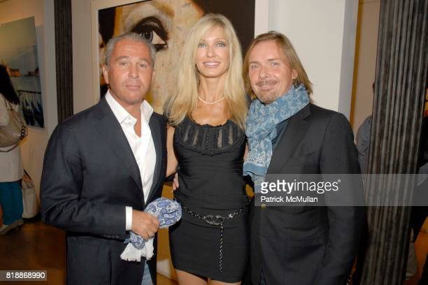 Ronnie Davidoff Dezera Romanelli and Christian Voigt attend Opera Gallery Opening Voigt Monet and Vukelic at Opera Gallery on April 15 2010 in New...