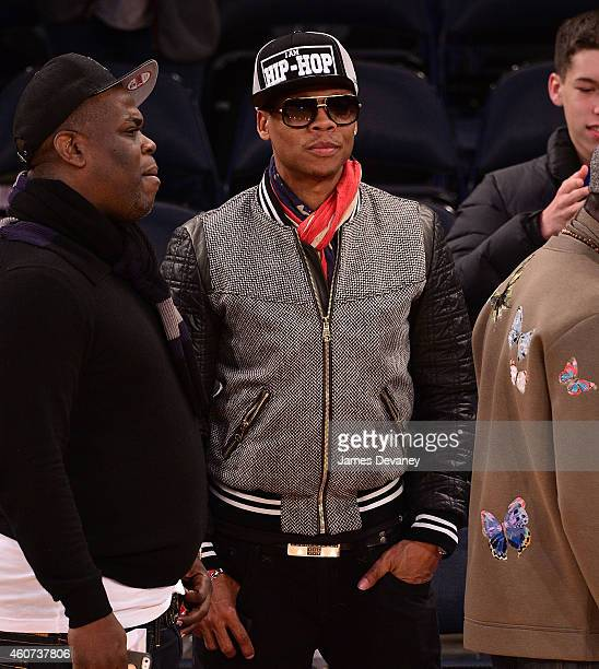 Ronnie DeVoe attends New York Knicks vs Phoenix Suns game at Madison Square Garden on December 20 2014 in New York City