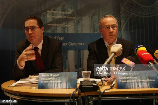 Ronnie Downes left Principal Officer of Finance and Michael McGrath right Assistant Secretary of Finance both from the Department of Finance during a...