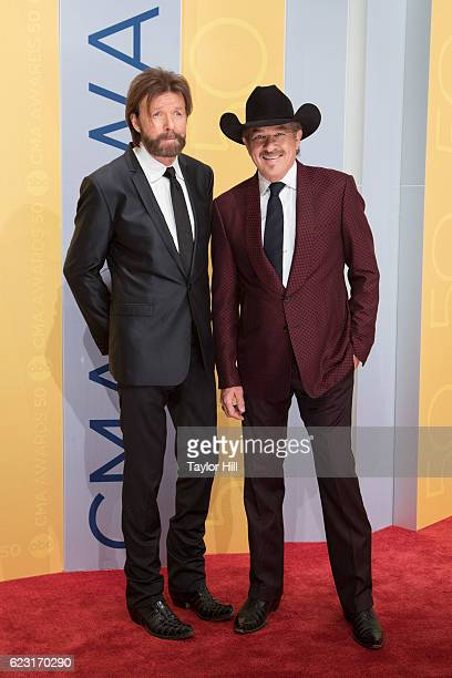 Ronnie Dunn and Kix Brooks attend the 50th annual CMA Awards at the Bridgestone Arena on November 2 2016 in Nashville Tennessee
