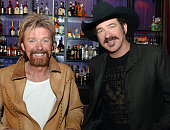 Ronnie Dunn and Kix Brooks during the filming of the video for 'Play Something Country' The single is the title track to Brooks Dunn's forthcoming...