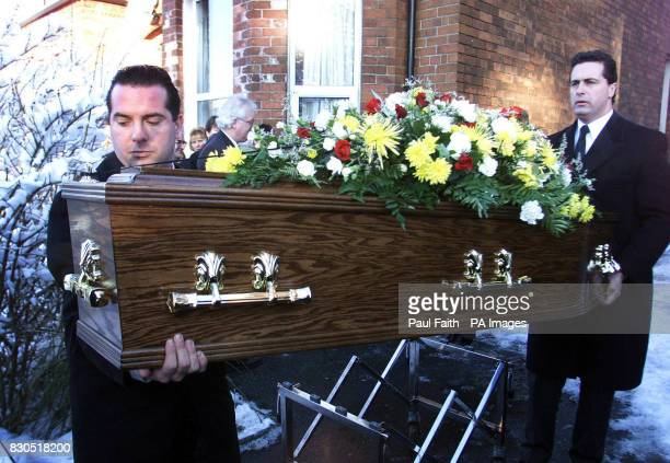 Ronnie Hill's coffin is removed from his home in Holywood Belfast Mr Hill was in a coma for 13 years following the Enniskillen Remembrance Day...