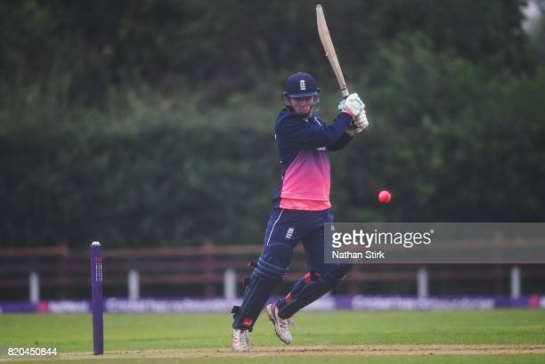 Ronnie Jackson of England batting during the INAS Learning Disability TriSeries Trophy Final match between England and South Africa on July 21 2017...