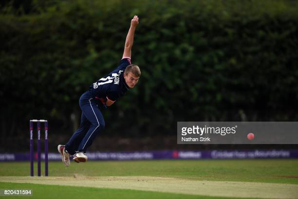 Ronnie Jackson of England runs into bowl during the INAS Learning Disability TriSeries Trophy Final match between England and South Africa on July 21...