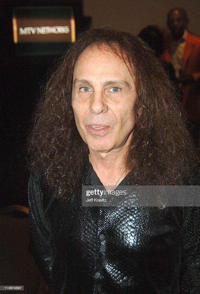 Ronnie James Dio during 2006 TCA MTV Networks - Green Room at Ritz Carlton Hotel, Pavilion Room in Pasadena, California, United States.