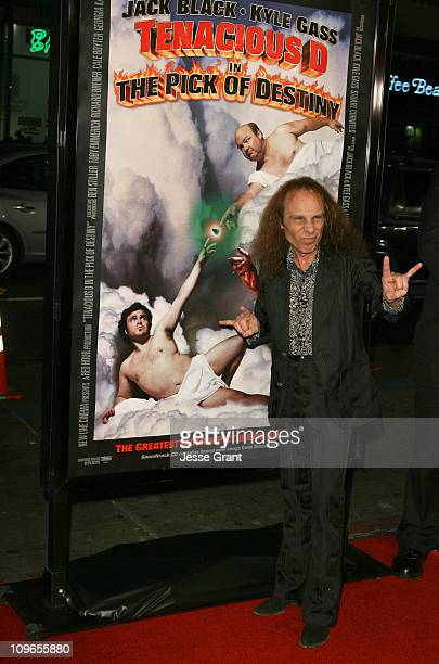 Ronnie James Dio during 'Tenacious D In the Pick of Destiny' Los Angeles Premiere Arrivals at Grauman's Chinese Theater in Hollywood California...