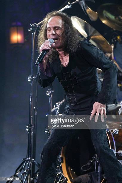 Ronnie James Dio of Heaven and Hell during Heaven and Hell and Megadeth in Concert at the Allstate Arena in Chicago May 5 2007 at Allstate Arena in...