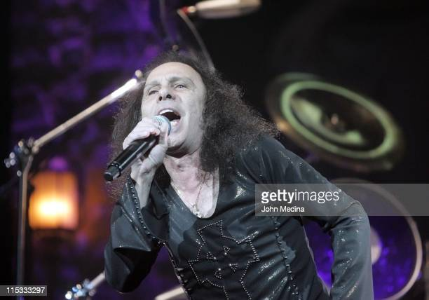 Ronnie James Dio of Heaven and Hell during Heaven and Hell Performs at the HP Pavilion in San Jose April 24 2007 at HP Pavilion in San Jose...