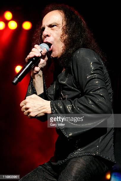 Ronnie James Dio of Heaven and Hell during Heaven and Hell Tour 2007 at the Verizon Wireless Amphitheater in San Antonio May 1 2007 at Verizon...