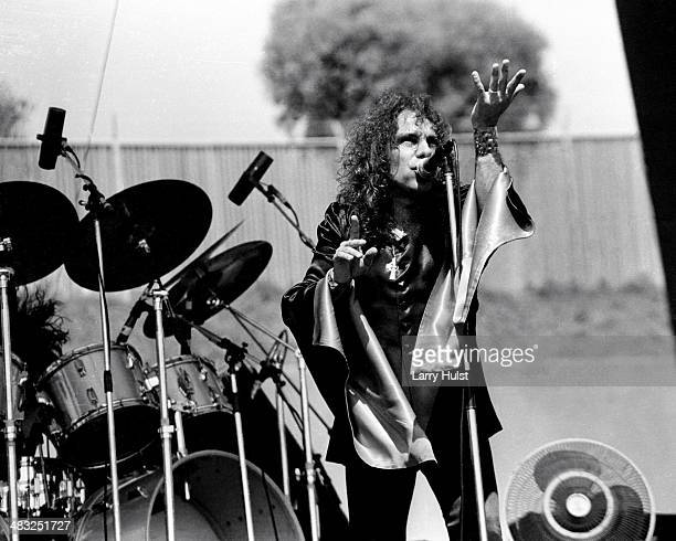 Ronnie James Dio performing with 'Black Sabbath' at Oakland Coliseum in Oakland California on July 27 1980