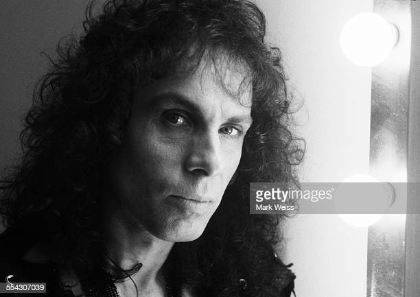 Ronnie James Dio portrait backstage United States 1987